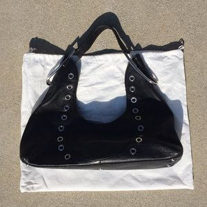 Furla Pebbled Leather Black Shoulder Bag